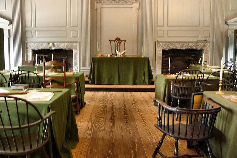 Interior da Independence Hall
