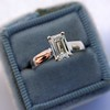 1.00ct Emerald Cut Diamond Solitaire, Platinum 4
