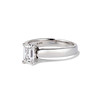 1.00ct Emerald Cut Diamond Solitaire, Platinum 1