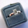 1.00ct Emerald Cut Diamond Solitaire, Platinum 10