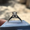 1.00ct Emerald Cut Diamond Solitaire, Platinum 11