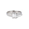 1.00ct Emerald Cut Diamond Solitaire, Platinum 0