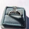 1.00ct Emerald Cut Diamond Solitaire, Platinum 17
