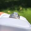 1.00ct Round Brilliant Diamond Filigree Solitaire 5