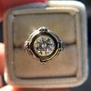 1.02ct Round Brilliant Diamond Bezel Ring 7