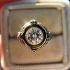 1.02ct Round Brilliant Diamond Bezel Ring 8