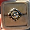 1.02ct Round Brilliant Diamond Bezel Ring 10