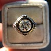 1.02ct Round Brilliant Diamond Bezel Ring 6