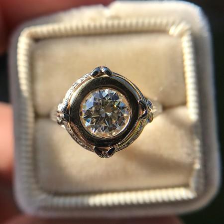 1.02ct Round Brilliant Diamond Bezel Ring