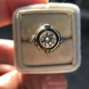 1.02ct Round Brilliant Diamond Bezel Ring 12