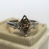 1.10ct Fancy Dark Brownish Yellow Marquise 3-Stone Ring 5