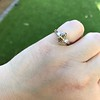 1.10ct Fancy Dark Brownish Yellow Marquise 3-Stone Ring 19