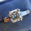 1.17ct Asscher Cut Diamond Tacori Solitaire, GIA G, VS2 14