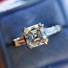1.17ct Asscher Cut Diamond Tacori Solitaire, GIA G, VS2 15
