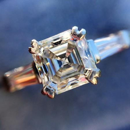 1.17ct Asscher Cut Diamond Tacori Solitaire