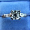 1.17ct Asscher Cut Diamond Tacori Solitaire, GIA G, VS2 18