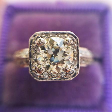 1.17ct Old European Cut Diamond Ring