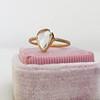1.20ct Pear Shape Rose Cut Diamond Bezel Ring 25