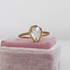 1.20ct Pear Shape Rose Cut Diamond Bezel Ring 12