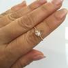 1.20ct Pear Shape Rose Cut Diamond Bezel Ring 3
