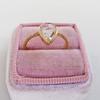 1.20ct Pear Shape Rose Cut Diamond Bezel Ring 14