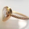1.20ct Pear Shape Rose Cut Diamond Bezel Ring 2