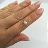 1.20ct Pear Shape Rose Cut Diamond Bezel Ring 22