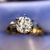 1.26ctw Old European Cut and Baguette Ring 23