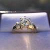 1.26ctw Old European Cut and Baguette Ring 44