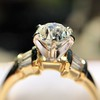 1.26ctw Old European Cut and Baguette Ring 28