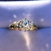 1.26ctw Old European Cut and Baguette Ring 15