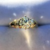 1.26ctw Old European Cut and Baguette Ring 14