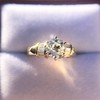 1.26ctw Old European Cut and Baguette Ring 35
