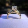1.26ctw Old European Cut and Baguette Ring 65
