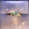 1.26ctw Old European Cut and Baguette Ring 41