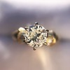 1.26ctw Old European Cut and Baguette Ring 54