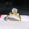 1.26ctw Old European Cut and Baguette Ring 11