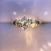 1.26ctw Old European Cut and Baguette Ring 40