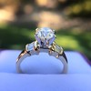1.26ctw Old European Cut and Baguette Ring 64