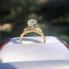 1.26ctw Old European Cut and Baguette Ring 46