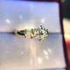 1.26ctw Old European Cut and Baguette Ring 42