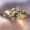 1.26ctw Old European Cut and Baguette Ring 59