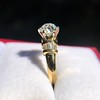 1.26ctw Old European Cut and Baguette Ring 12