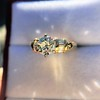 1.26ctw Old European Cut and Baguette Ring 39