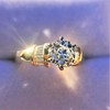 1.26ctw Old European Cut and Baguette Ring 31