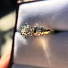 1.26ctw Old European Cut and Baguette Ring 38