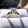 1.26ctw Old European Cut and Baguette Ring 16