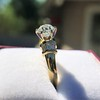 1.26ctw Old European Cut and Baguette Ring 18