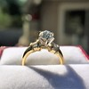 1.26ctw Old European Cut and Baguette Ring 20