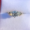 1.26ctw Old European Cut and Baguette Ring 5